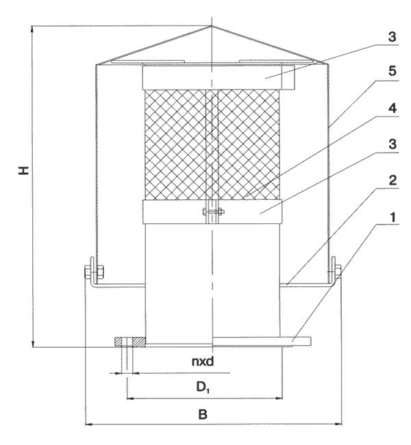 Патрубок вентиляционный ПВ-50